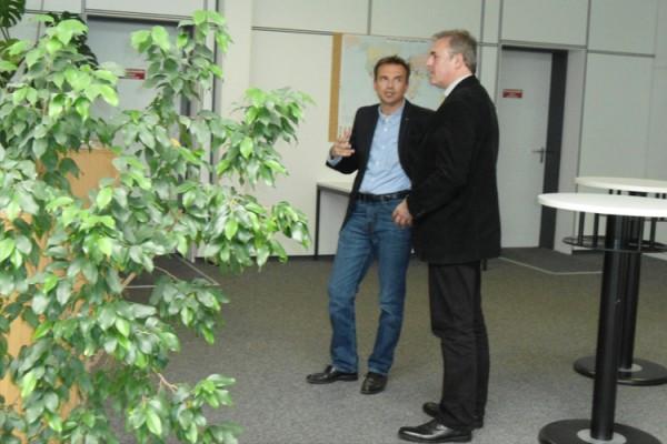 Besuch des neuen Bürgermeisters Herr Markert