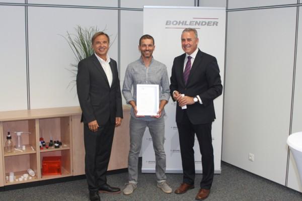 Langjähriger Mitarbeiter bei der Bohlender GmbH geehrt
