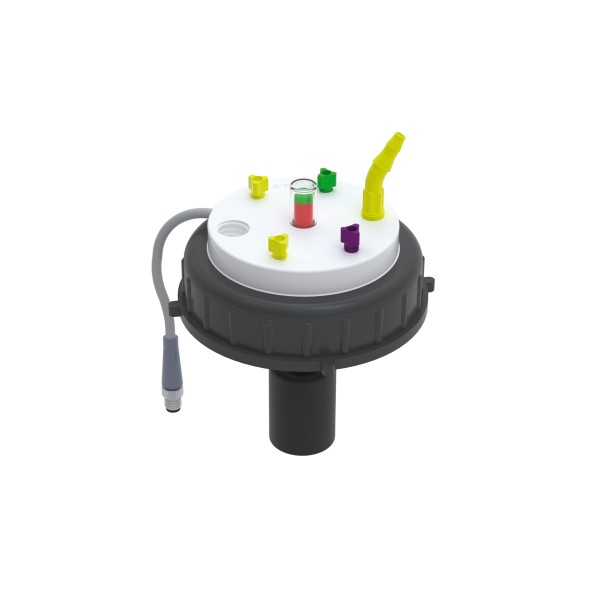 b.safe Waste Cap S95 Electronic Fill-Level Control, PTFE, PE
