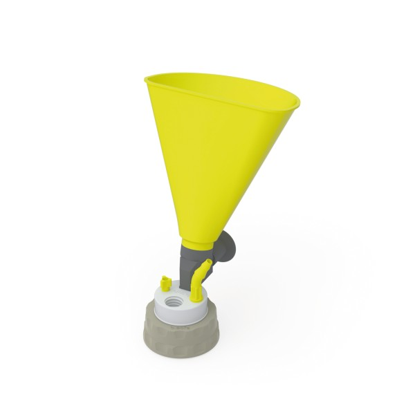 b.safe Waste Cap S51 with Funnel, PTFE, PP
